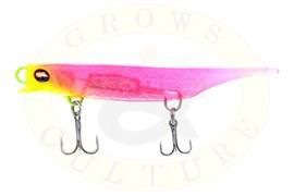 Силиконовый воблер Grows Culture Viper 80мм, Chartreuse Head Pink